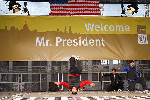 Barak Obama - Wilkommen in Dresden 2009